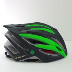 mũ bảo hiểm xe đạp royal JC09 đen xanh lá