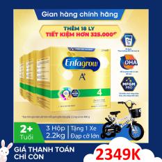 [FREESHIP HỎA TỐC HCM&HN] Bộ 3 hộp sữa bột Enfagrow 4 cho trẻ trên 2 tuổi 2.2kg (4 túi thiếc 550g) + Tặng 1 xe đạp cực ngầu