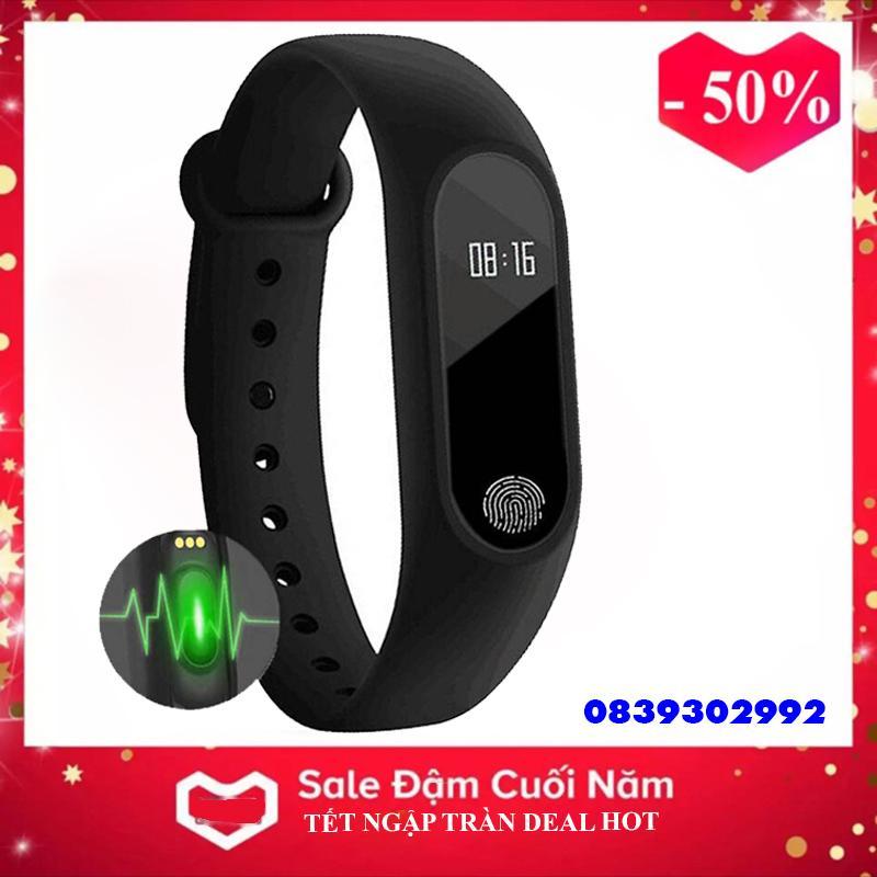 Vòng đeo tay thông minh M2 Đo Nhịp Tim kết nối Bluetooth.Đồng hồ Thông Minh Chống Nước Vòng Tay Đồng...