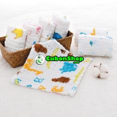 Khăn Xô/Sữa Aden Nhăn 6 Lớp Dầy Đẹp Cho Bé