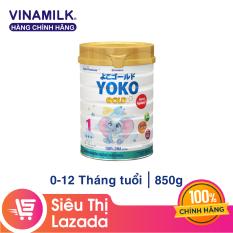 [Freeship HCM & HN] Sữa Bột Vinamilk Yoko Gold 1 – Hộp Thiếc 850g – Dành cho bé 0-12 tháng tuổi