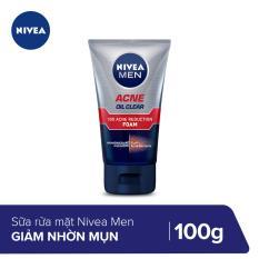 Sữa rửa mặt Nivea men giúp giảm nhờn mụn 100g-82378