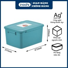 Thùng đựng đồ đa năng 30L- thùng đựng đồ – chơi cho bé – thùng đựng đồ, thùng cao cấp, thùng nhựa cao cấp, thùng đựng quần áo – Notororo INOCHI giúp không gian trở nên g0ọn hàng và ngăn lắp THDN30L