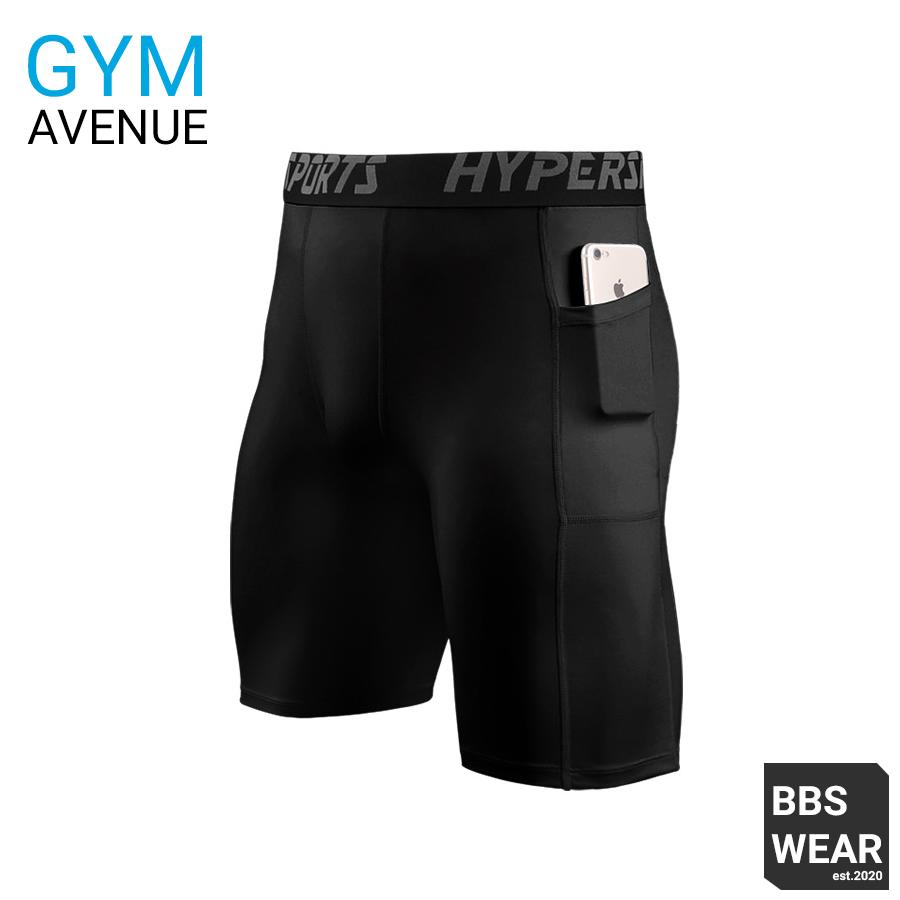 Quần Legging HYPER SPORT Ngắn – Quần thể thao nam dáng ngắn có túi chuyên GYM (MA70)