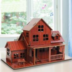 Đồ chơi lắp ráp gỗ 3D Mô hình Nhà Warm House
