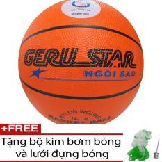 Bóng rổ cao su cam Geru Star số 6