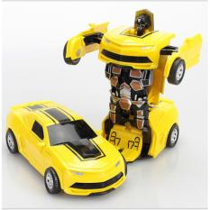 Đồ chơi ô tô biến hình thành Robot transformer dùng pin, có âm thanh và ánh sáng