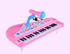 [MỚI] Đàn Piano cho bé tặng kèm micro – rèn luyện kỹ năng âm nhạc (màu hồng)