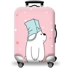 [Lấy mã giảm thêm 30%]Túi bọc bảo vệ vali -Áo vỏ bọc vali – Mẫu Gấu Đội Mũ Size S M L XL HPValiOEM