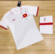 Quần áo bóng đá Việt Nam màu trắng 2020 thun cao cấp