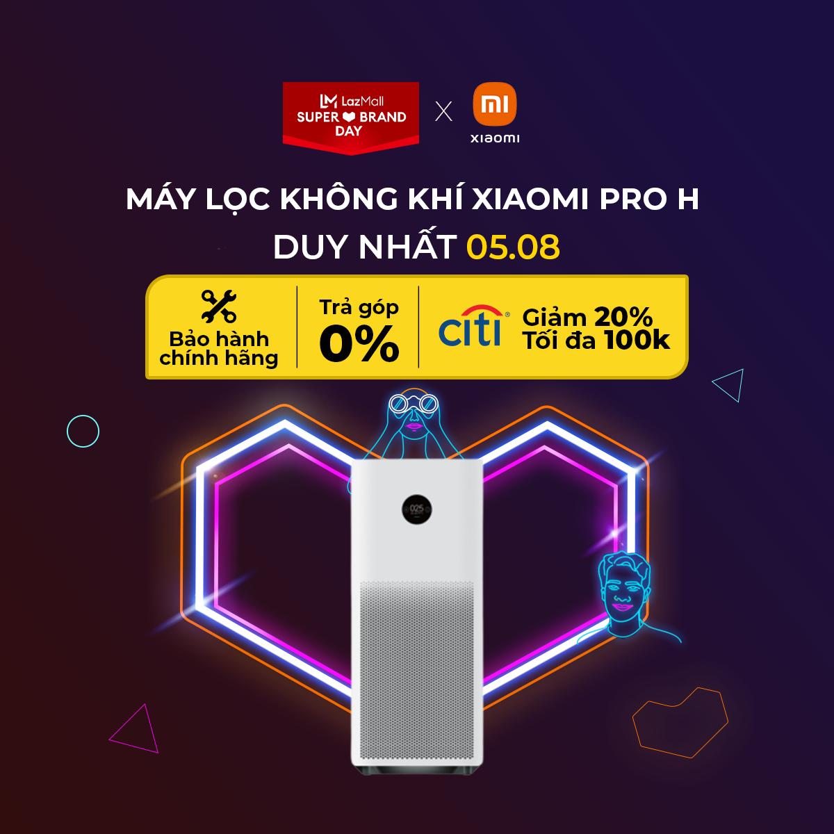 Máy lọc không khí Xiaomi Mi Air Purifier Pro H – Trắng – Hàng chính hãng DGW – Trả góp 0%