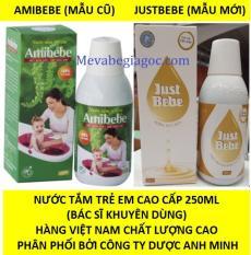 Nước tắm trẻ Em AMIBEBE / JUSTBEBE 250ML (Hàng Việt Nam Chất Lượng Cao) (Phân phối bởi Cty Dược Anh Minh)