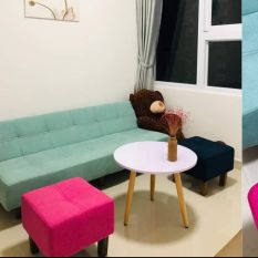 Sofa bed màu xanh pastel. Sofa bed. Sofa giường. Bed.
