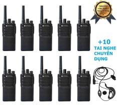 Bộ 10 Máy Bộ Đàm Motorola GP850 + 10 Tai Nghe Chuyên Dụng