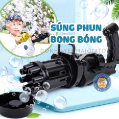 Đồ chơi phun,thổi bong bóng xà phòng 8 nòng dùng pin kèm nước xà phòng tạo bong bóng cho bé – Thị trấn đồ chơi