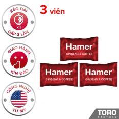 Bộ 3 Kẹo Sâm Hamer (Malaysia) – Kéo dài thời gian quian hệ , trị xuất tinh sớm, tăng cường sức khỏe nam giới – 3 viên – [TORO FACTORY]