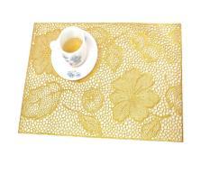 Miếng lót bàn ăn FY 311 hoa văn nhũ vàng (45 x 30 cm)