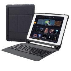 Bàn phím bluetooth có đèn kèm bao da case rời và khay đựng bút Pencil cho iPad Air 2 , Pro 9.7, iPad 2018, ipad 2017 Promax TC107 – Đen
