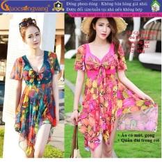 Váy bơi hai mảnh đồ đi biển nữ màu họa tiết GLSWIM013 Cuocsongvang