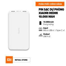 [FREESHIP] Sạc dự phòng Xiaomi Redmi 10.000mAh l Input: Micro USB, Type-C / Output: USB-A x2 l HÀNG CHÍNH HÃNG