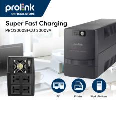[Trả góp 0%]Bộ lưu điện UPS Prolink PRO2000SFCU (2000VA) tích hợp 3 bước AVR sạc siêu nhanh điện áp đầu vào rộng cung cấp nguồn dự phòng ổn định cho các thiết bị gia đình văn phòng