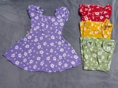 Đầm lụa hoa bé (8-16kg)