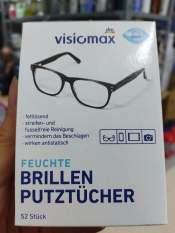 Hộp 52 tờ giấy lau kính VISIOMAX cực hót trên toàn cầu- hàng nội địa Đức, date 7/2023