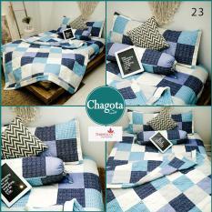 Bộ Drap Chagota vải cotton Thắng Lợi cao cấp