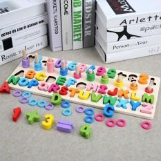 [HOT] Đồ chơi bảng chữ số xếp hình gỗ trí tuệ dành cho bé học chữ và đếm