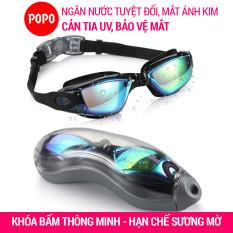 Kính bơi người lớn cho nam, nữ chính hãng POPO 2360 kính bơi tráng gương cao cấp mắt kiếng bơi chống tia UV chống hấp hơi khóa kính bơi thông minh