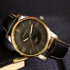 Đồng hồ nam Yazole 348 Dây da Dạ quang phong cách doanh nhân