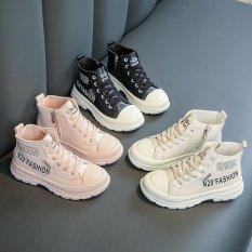 Giày Bốt Cho Bé Phong Cách, Cá Tính, Da Cao Cấp, Cho Bé Từ 3 Tuổi Đến 12 Tuổi (Đen, Kem, Hồng)