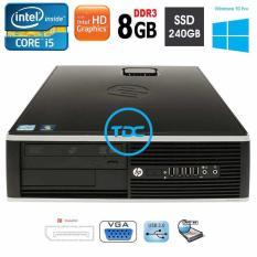 Thùng máy tính để bàn HP 6200 pro SFF intel Core i5 2400, Ram 8gb, ổ cứng SSD 240gb. Quà tặng usb wifi, Bảo hành 1 đổi 1 trong 24 tháng. Hàng Nhập Khẩu.