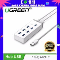 HUB USB3.0 7 cổng có nút bật tắt, hỗ trợ nguồn 12A/4V UGREEN CR116 20296 – Hãng phân phối chính thức