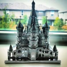Mô Hình 3D Kim Loại Lắp Ráp Nhà Thờ Thánh Basil [Chưa Lắp]