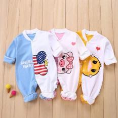 Body liền thân dài tay cotton cho bé trai và bé gái sơ sinh từ 3-15kg, hàng đẹp xuất Hàn