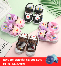 [Tặng rùa] Dép tập đi cho bé 1-2-3 tuổi, dép quai hậu bé gái, sandal tập đi cho bé trai và bé gái hình tuần lộc+snoopy dễ thương