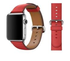 Dây đeo cho đồng hồ Apple Watch Red Leather Classic Buckle 42mm