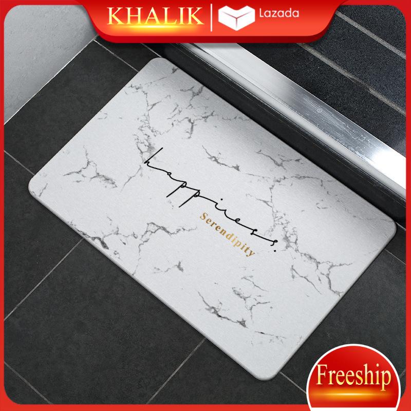 Thảm phòng tắm siêu thấm, thảm lau chùi chân bằng bột đá thạch anh sang trọng 60x40x0,9cm (đủ mẫu lựa) + tặng kèm lưới chống trơn trượt
