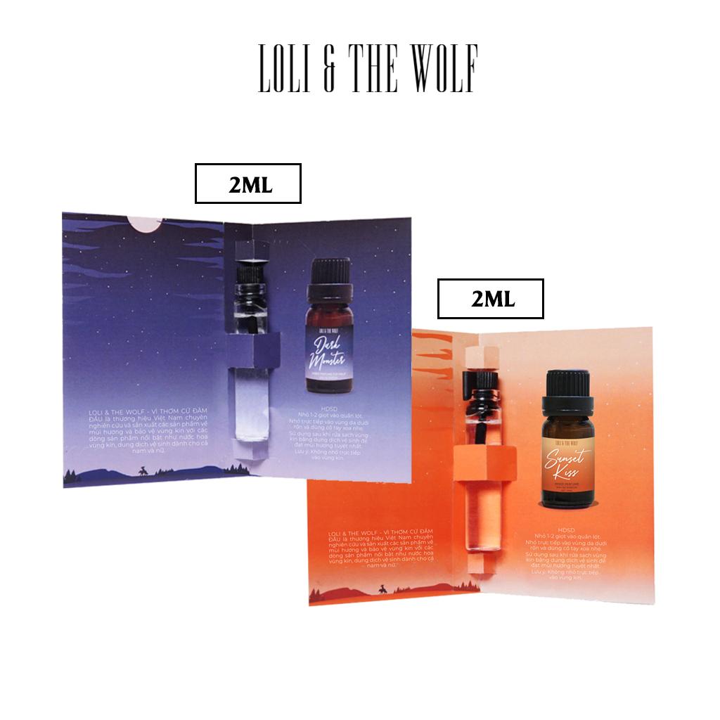 [Quà tặng] Combo 2 Nước hoa mini cho vùng kín chai 2ml nhỏ gọn tiện lợi (giao mùi tự chọn) – LOLI & THE WOLF