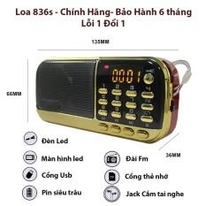 Máy nghe pháp, nhạc Mp3, Loa thẻ nhớ Craven CR 836S tụng kinh phật, đài FM, đèn pin, (loại 2 Pin)