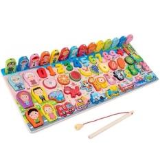Bộ đồ chơi câu cá và ghép số học đếm mẫu mới , Bộ bảng số thông minh cho bé