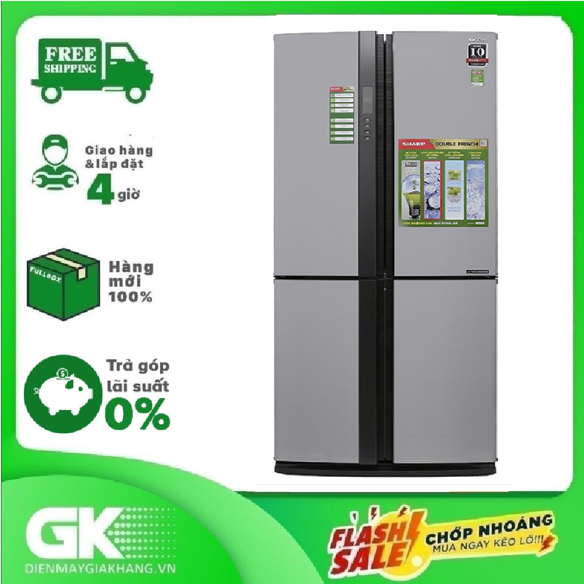 TRẢ GÓP 0% – TRẢ GÓP 0% – Tủ lạnh Sharp side by side Inverter 556 lít SJ-FX630V-ST – Hàng mới 100% nguyên đai nguyên kiện – Bảo hành 12 tháng