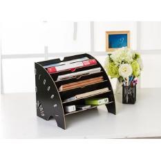 kệ đựng hồ sơ văn phòng, kệ tài liệu hình quạt, kệ sách để bàn để tài liệu, hồ sơ, giấy tờ văn phòng