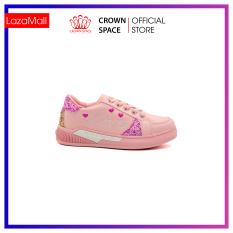 Giày Sneaker Bé Gái Đi Học Cổ Thấp Crown Space UK Active Trẻ em Cao Cấp CRUK257 Siêu Nhẹ Êm Size 26 Đến Size 35/3 Tuổi Đến 12 Tuổi