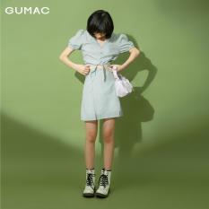 Chân váy nữ GUMAC thiết kế caro xẻ lai VB1176 TEEN