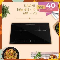 Bếp điện từ đôi cao cấp Kachi MK75 3600W – Màu đen