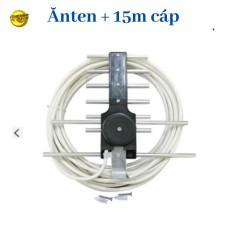 Anten thông minh thu sóng DVB T2 + 15m dây cáp + Jack nối dùng cho TiVI và đầu KTS