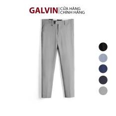 Galvin Store – Quần tây nam vải xước chính hãng gắn phụ kiện dáng trẻ trung đẹp chống nhăn QAGV11 – LEO VATINO