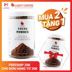 [MUA 2 HŨ TẶNG 1 HŨ] Bột Cacao nguyên chất không đường Light Cacao tốt cho sức khỏe – hũ 350g